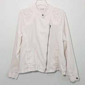 Maurices Linen Cutout Jacket Women's 2X White